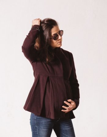natte_purple_wool_maternity_coat